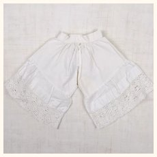 Antique doll's bloomers