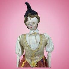 Vintage ethnic petite cloth doll