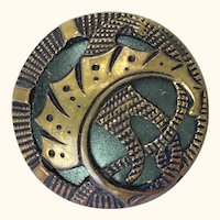 Six antique Art Deco metal buttons
