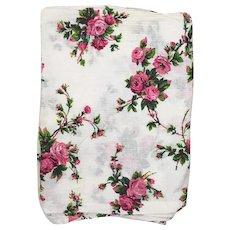 Vintage rose print cotton plissé