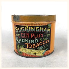 Advertising Tobacco Tin Buckingham Cut Plug