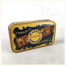 Advertising Tobacco Tin J. Wright Co. Master Workman