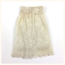 Vintage lace petticoat and knickers combination