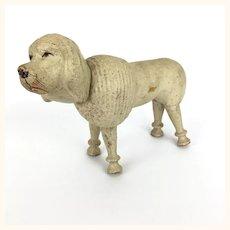 Vintage Schoenhut wooden painted eye larger poodle