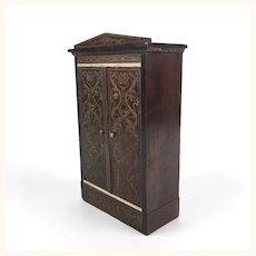 Antique Biedermeier Dollhouse Coat Closet