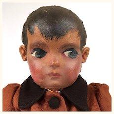 Vintage unusual painted cloth doll.