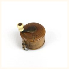 Antique Treenware reel style tape measure