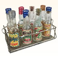 Miniature doll sized German liqueur bottles, RARE