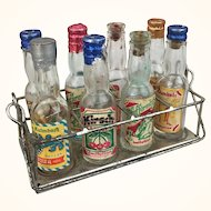 Miniature doll sized German liqueur bottles, RARE