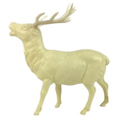 Vintage celluloid miniature white stag or caribou