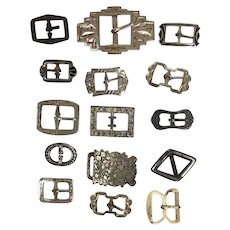 Lot of 15 antique small buckles