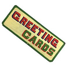 Vintage recycled Handmade Greeting Card Sign