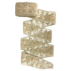 Vintage wide Torchon lace