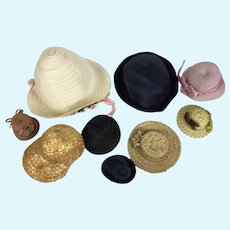 Lot of vintage doll hats