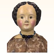 Papier mache M&S Superior doll in wonderful clothing
