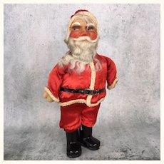 Vintage papier mache Santa in original clothing