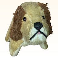 Vintage Primitive Velveteen Stuffed Dog