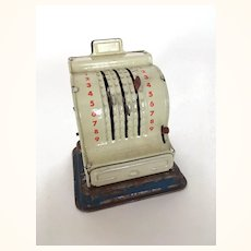 Vintage miniature working cash register