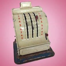 Vintage miniature cash register, doll size cash register, miniature store register