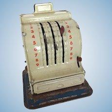 Vintage miniature working cash register