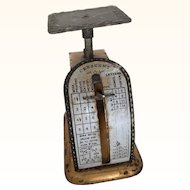 Vintage Miniature Postal Scale to weigh doll's letters