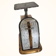 Vintage miniature metal postal scale for doll's letters