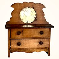 Vintage Wooden doll dresser with drawers and mirror