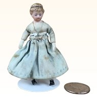 Antique China head dollhouse doll on original body