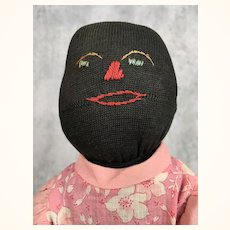 Handmade Folk Art Black doll