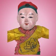 Papier mache Chinese boy doll