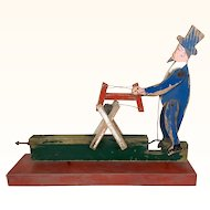 Early vintage folk art whirligig Americana man