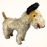 Vintage Mohair wire Fox terrier