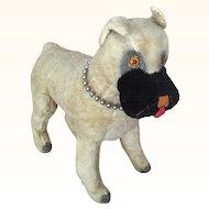 Vintage mohair Knickerbocker boxer dog