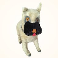 Vintage mohair Knickerbocker boxer dog