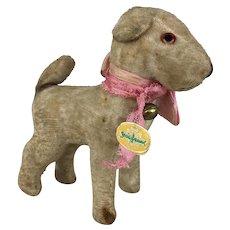 Vintage Velveteen German miniature dog