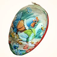 Vintage Germany papier mache Easter egg