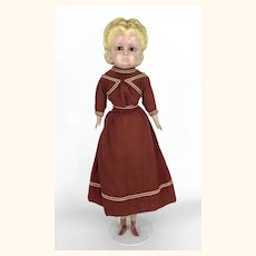Antique Alice pumpkinhead wax over doll