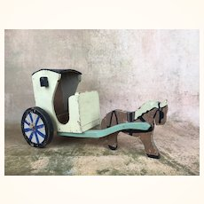Early Vintage Folk art horse and buggy