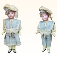 Sailor boy and girl dolls with provenance