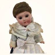 German miniature bisque head doll, Armand Marseille 390