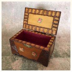 Vintage carved wooden presentation box