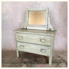 Vintage Doll sized painted shabby wood dresser