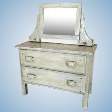 Vintage Doll sized painted wood dresser