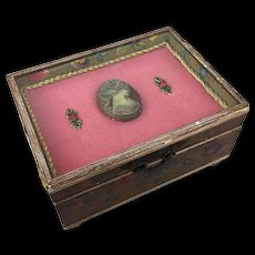 Vintage Florentine box with glass top