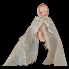 Vintage painted bisque baby doll