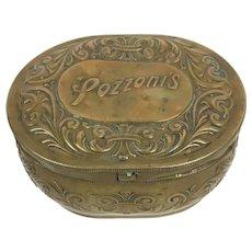 Antique Pozzoni's Brass box