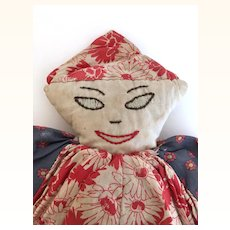 Vintage 1930's cloth Folk Art doll