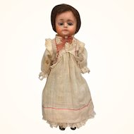 Antique papier mache doll, small size Patent Washable Doll