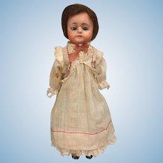 Antique papier mache doll, small size Patent Washable Doll