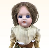 German bisque head doll, original clothing, gorgeous